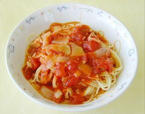 オレンジトマトスパゲティ