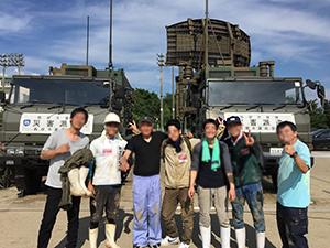 写真④:朝倉市ボランティア活動後の一枚