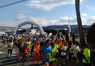 清水山ロードレーススタート